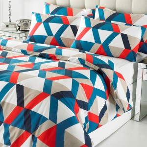 Student Linen Home Comfort Plus Pack - Geometric Pattern Duvet Cover-0