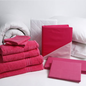 Student Linen Starter Pack - Reversible Dark and Light Pink Duvet Cover-0