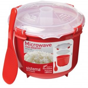 Sistema Microwave Rice Steamer - 2.6 L, Red/Clear-0