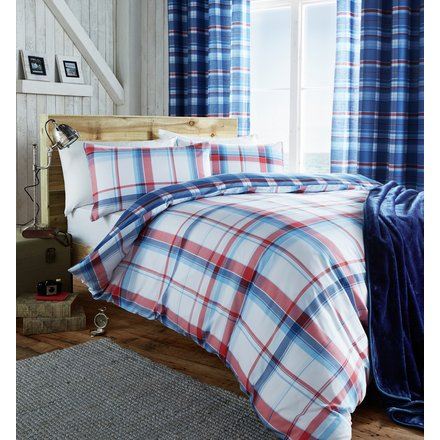 Student Linen Home Comfort Pack - St Ives Duvet Cover Red or Blue-0