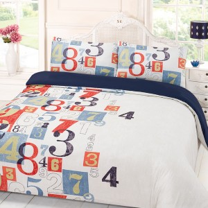 Student Linen Home Comfort Pack - Numbers Duvet Cover-0