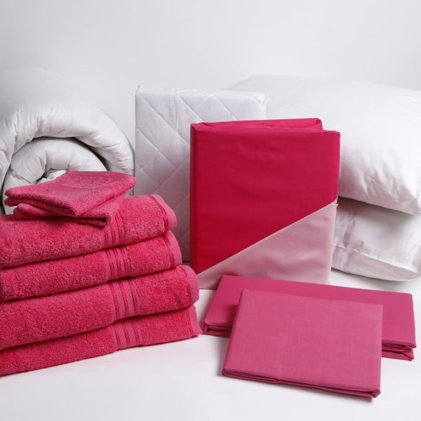Student Linen Home Comfort Pack - Reversible Dark and Light Pink Duvet Cover-2926