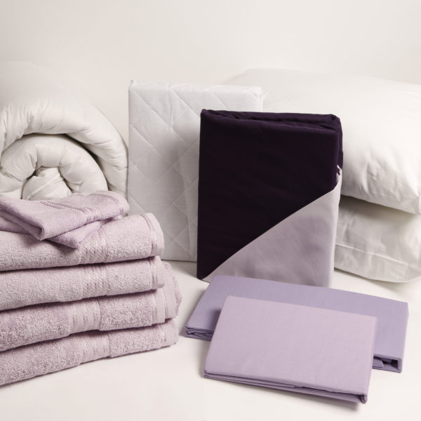 Student Linen Home Comfort Pack - Reversible Lilac and Purple Duvet Cover-2930