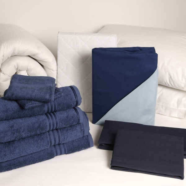 Student Linen Home Comfort Plus Pack - Reversible Dark and Light Blue Duvet Cover-2950