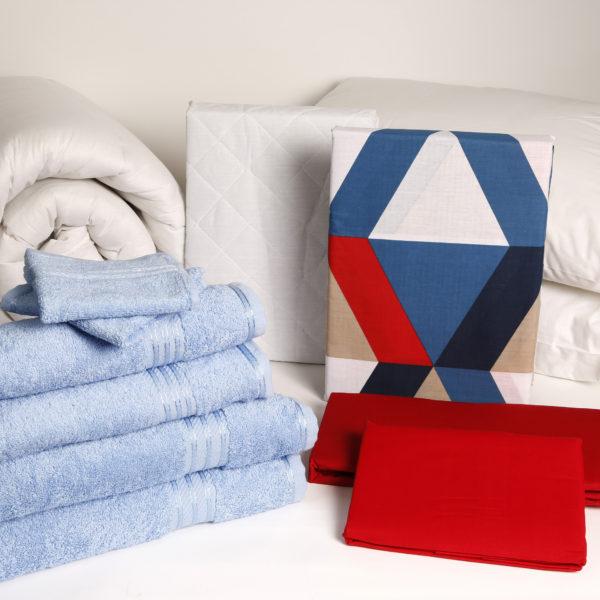 Student Linen Home Comfort Pack - Geometric Pattern Duvet Cover-2945