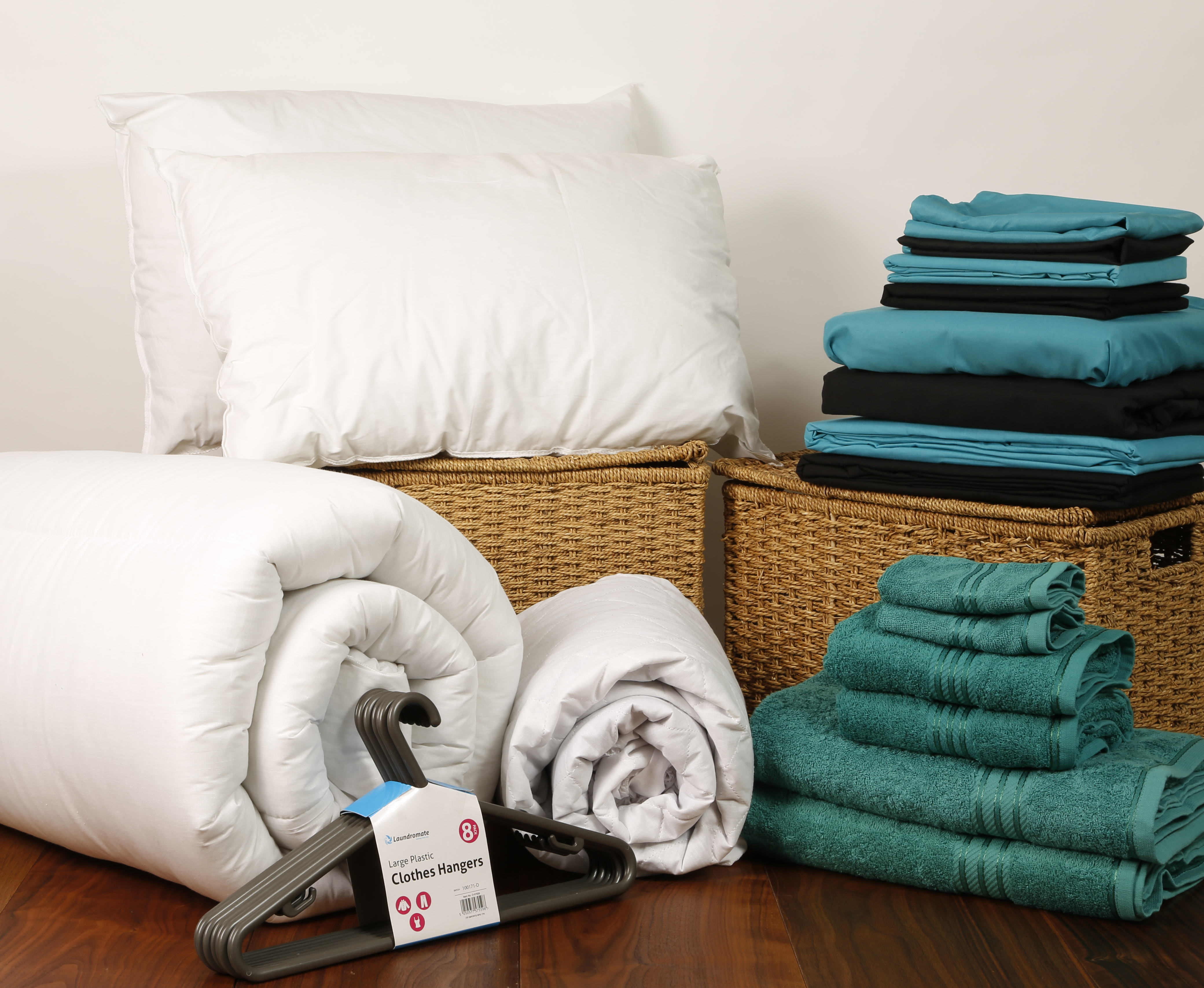 Student Linen Home Comfort Pack Reversible Turquoise And