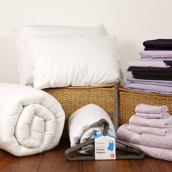 Student Linen Home Comfort Pack - Reversible Lilac and Purple Duvet Cover-0