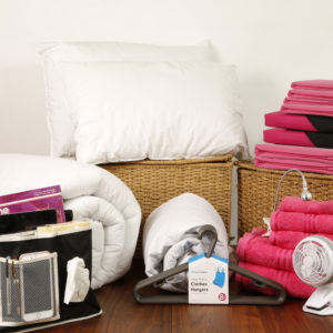 Student Linen Home Comfort Plus Pack - Reversible Pink and Black Duvet Cover-0