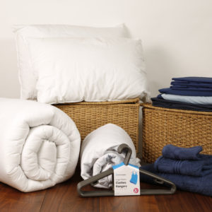 Student Linen Starter Pack - Reversible Dark and Light Blue Duvet Cover-0